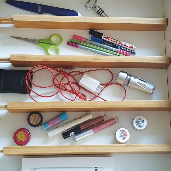Flexible Trennwände Unterteilungen für Schubladen aus Bambus